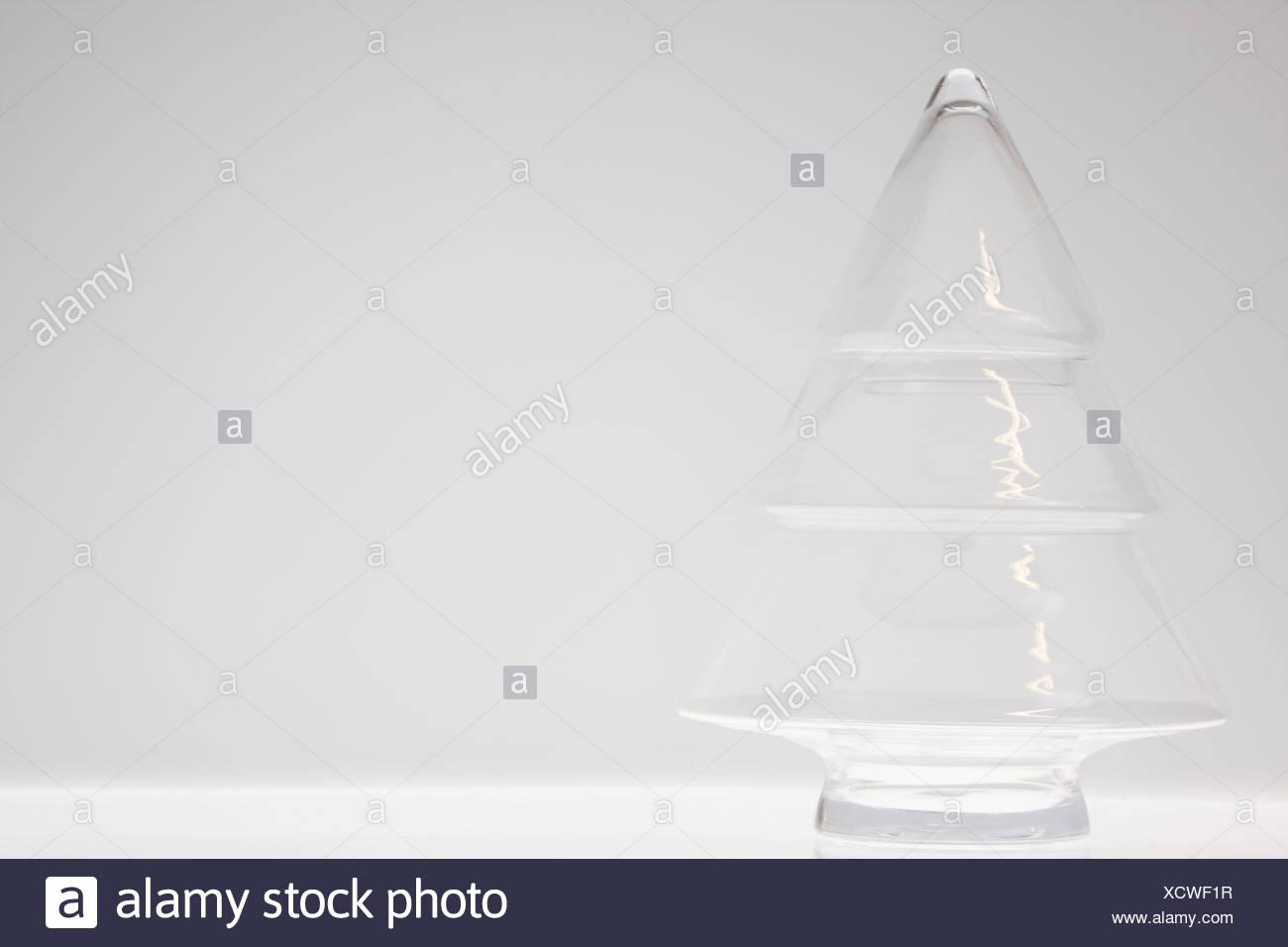 Glass Christmas Tree decoration - Stock Image