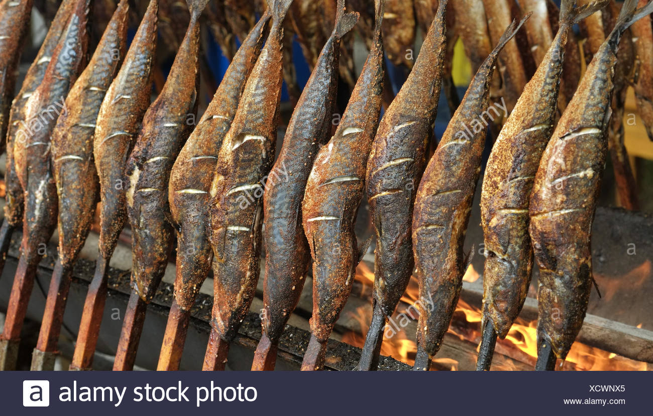 Fish steckerlfisch stock photos fish steckerlfisch stock for Fish on a stick