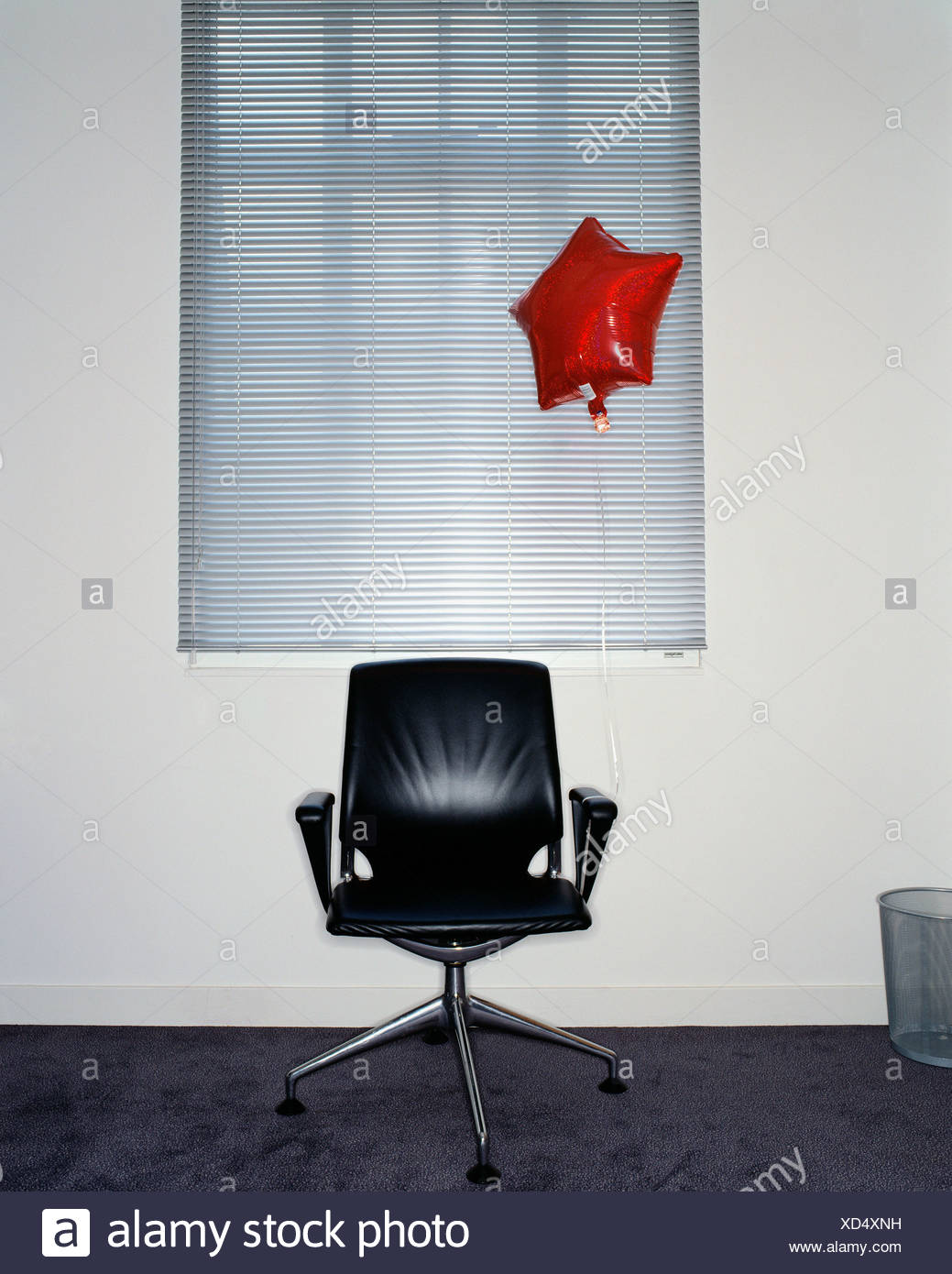 balloon attached to office chair stock photo 283465213 alamy rh alamy com Antique Balloon Chair French Balloon Chairs