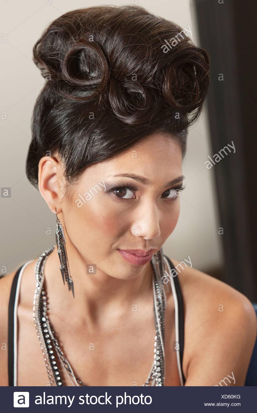Woman In Retro Hairdo Stock Photo 283488676 Alamy