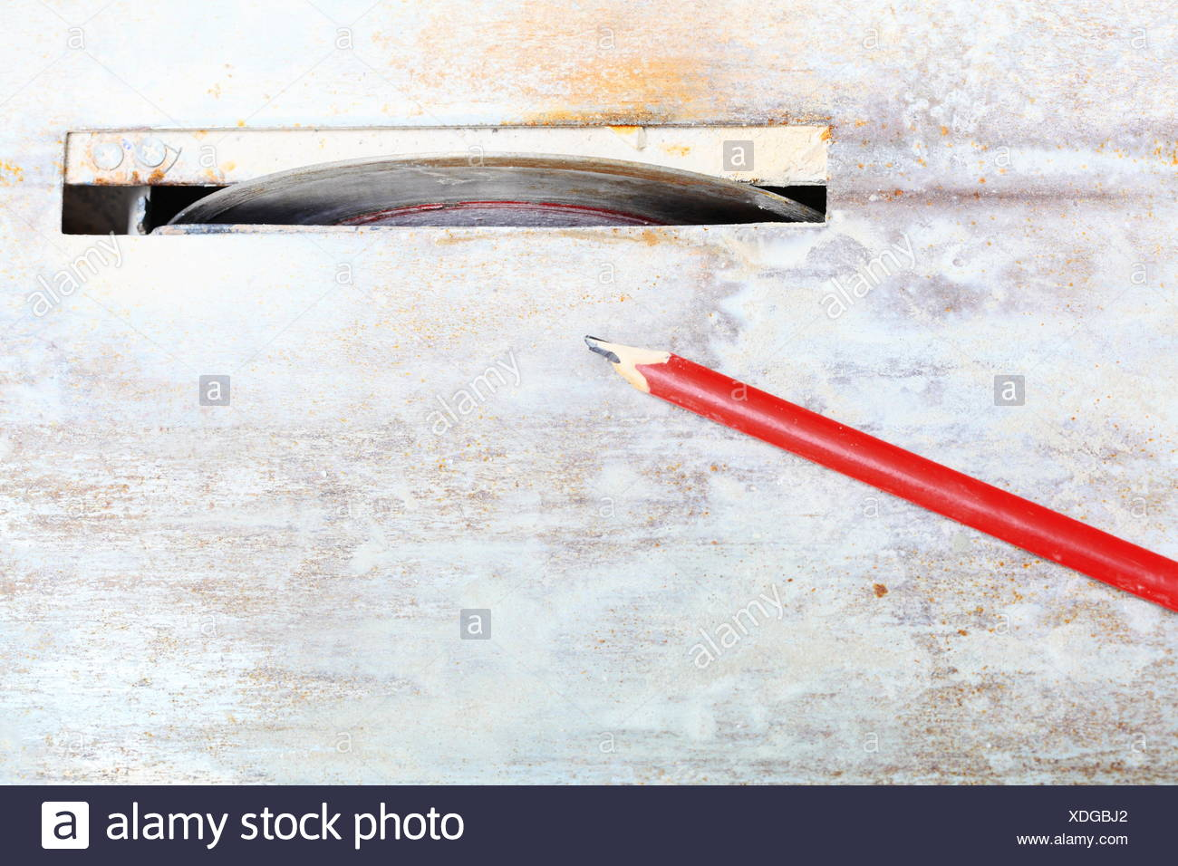 Circular Saw Cutter Blades Used To Cut Floor Tile Stock Photo