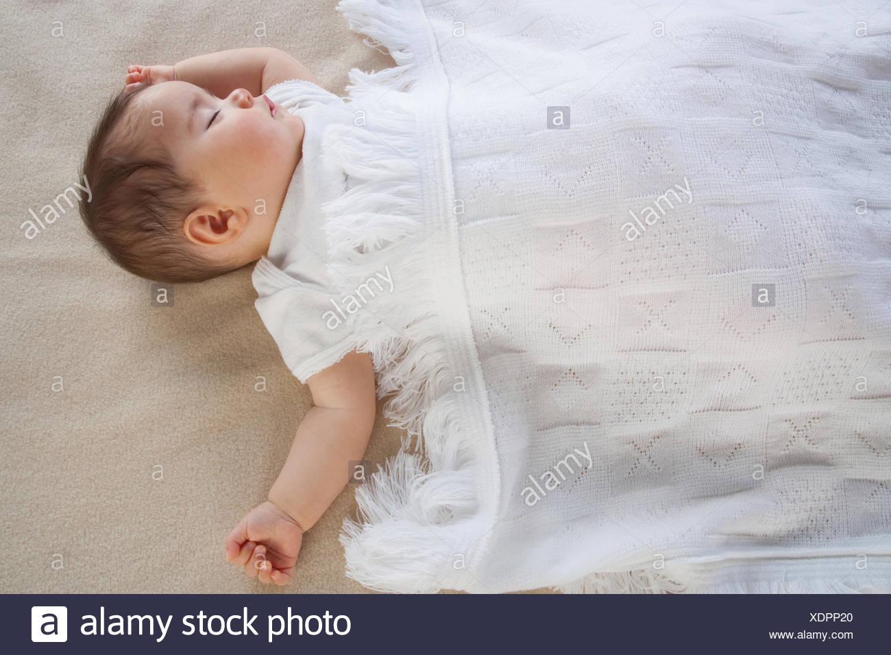 A baby sleeping - Stock Image