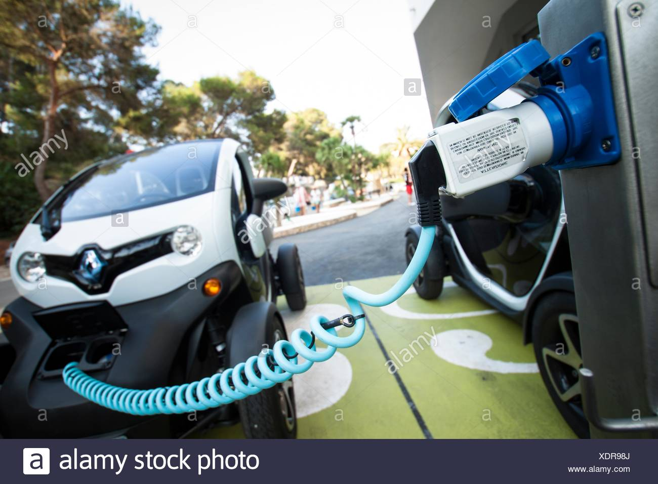 Electric Car Charging Stock Photo 283868610 Alamy