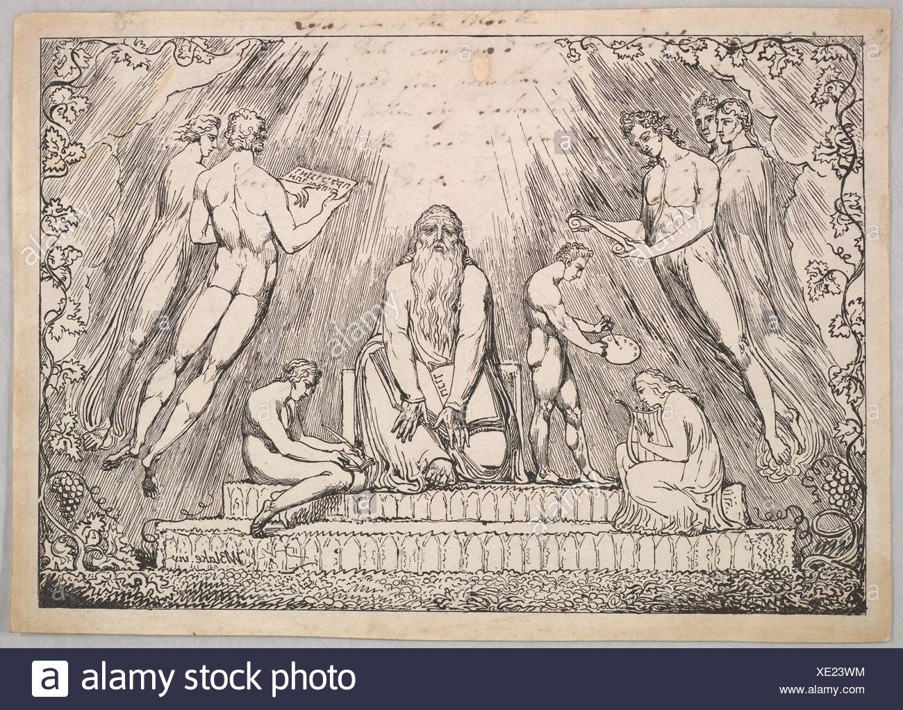 Artist: William Blake (British, London 1757-1827 London); Date: 1806-7;  Medium: Modified lithograph printed in relief from a stone; one state;