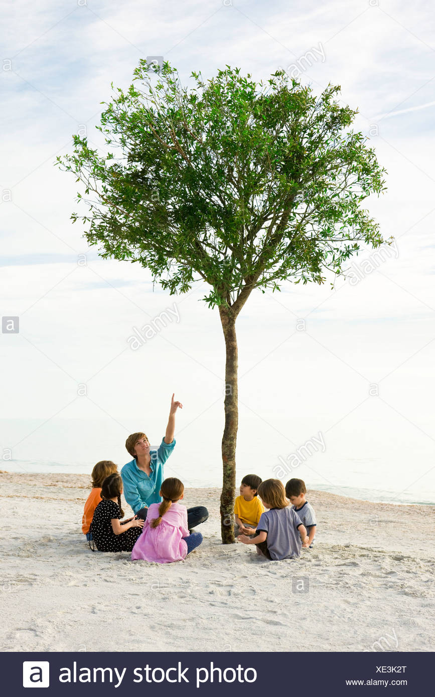 Teaching children about the environment - Stock Image