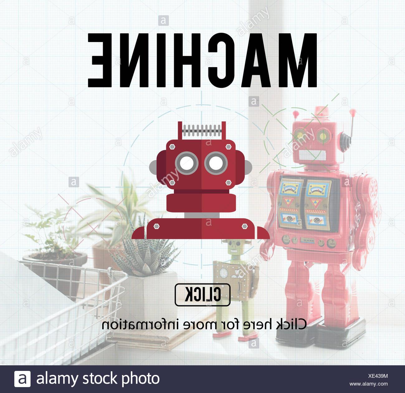 Robot Cyborg Ai Robotics Android Concept Stock Photo 284061504 Alamy