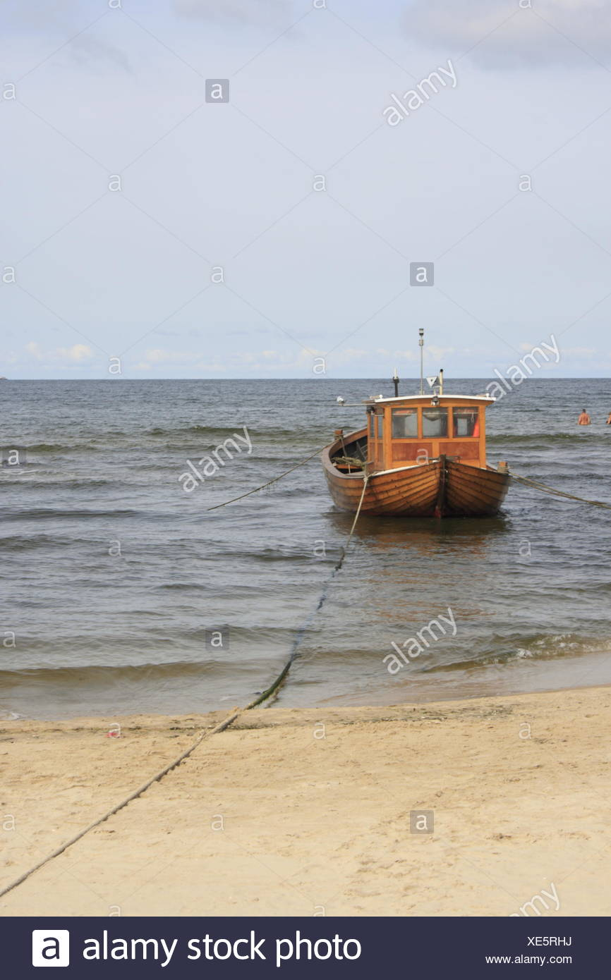 fishing boat at the German Baltic Sea - Stock Image