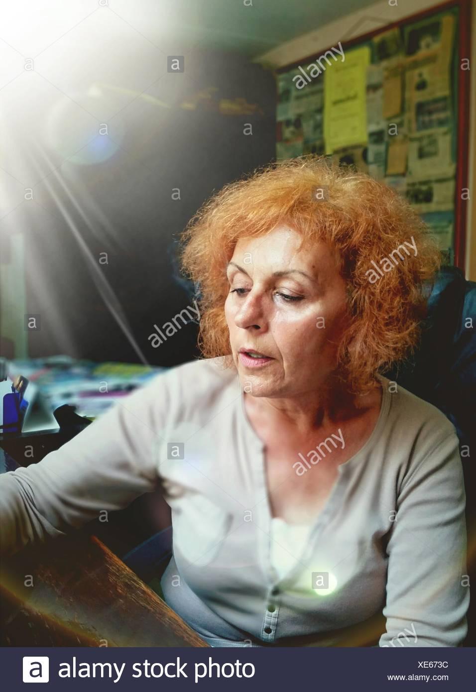 Close-Up Of Senior Woman - Stock Image