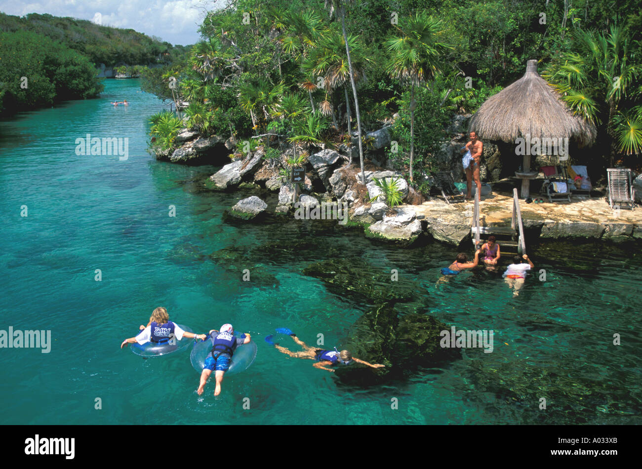 Mexico Snorkeling Xel Ha Lagoon Tourist Attraction Near