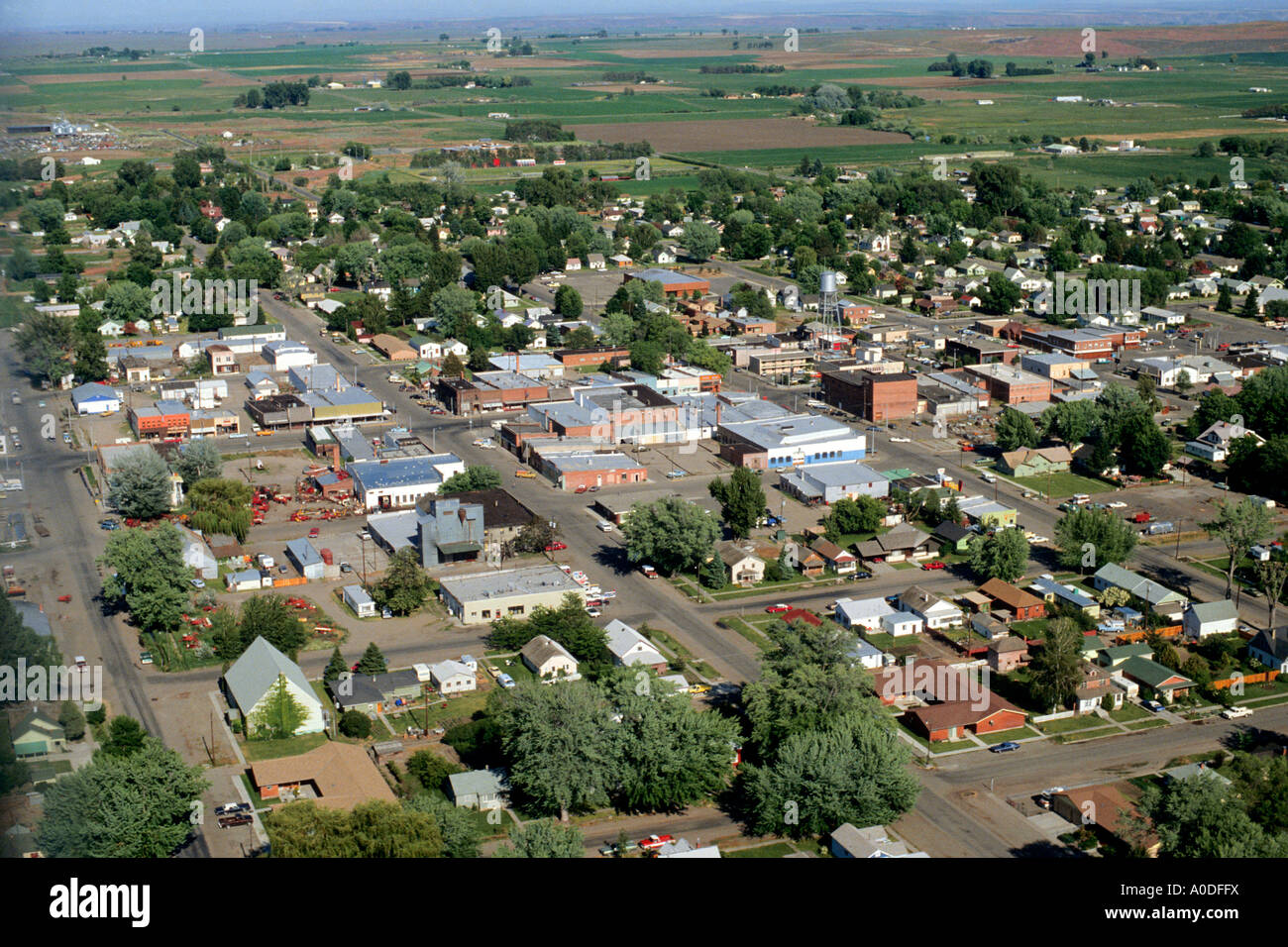 American small town Gooding Idaho Stock Photo
