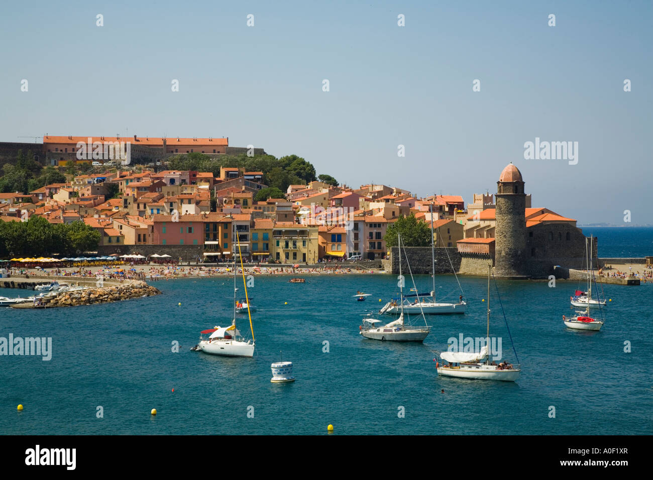 Collioure, Lanquedoc-Rousillon, France Stock Photo