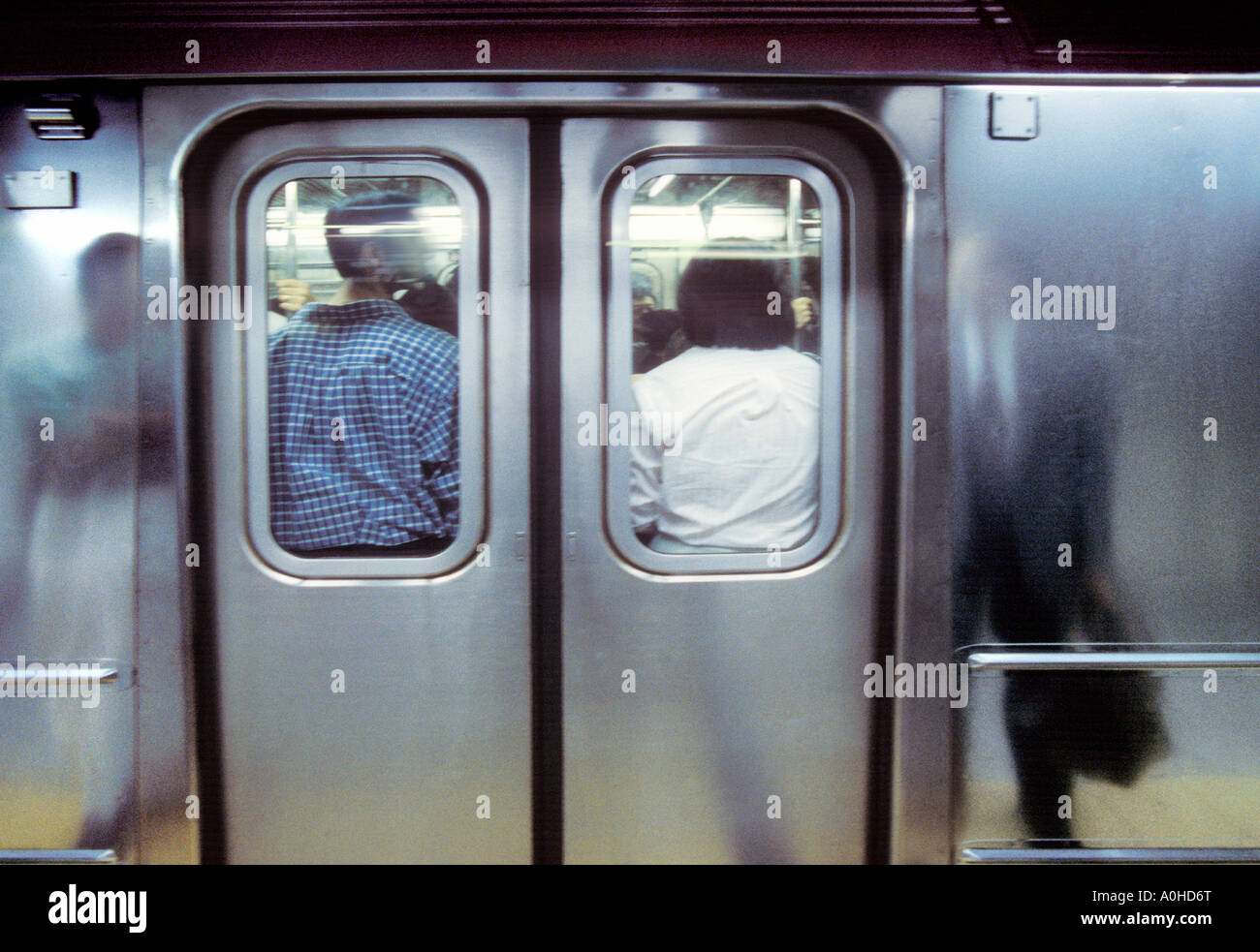 usa new york new york city nyc manhattan crowded subway car with stock photo royalty free image. Black Bedroom Furniture Sets. Home Design Ideas