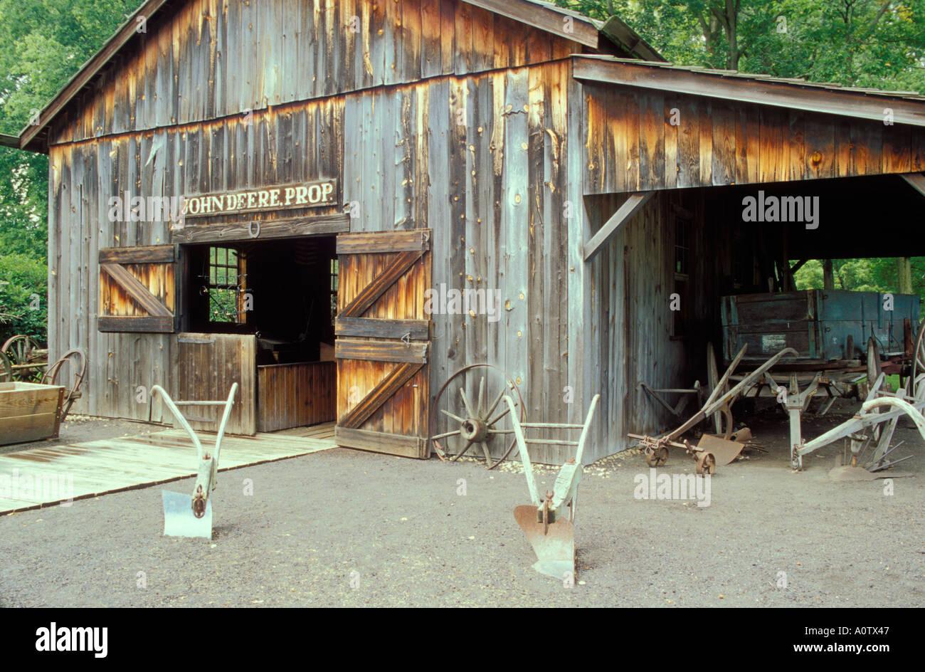John deere 39 s blacksmith shop at the john deere historic for Shop homepage