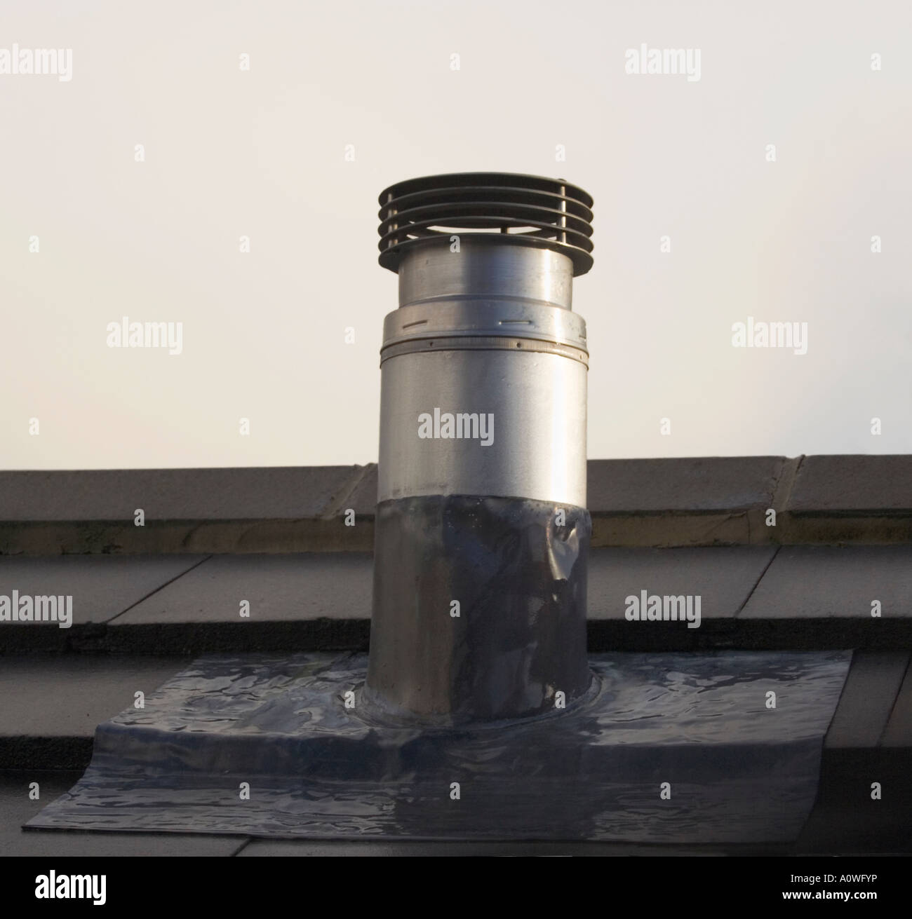 Chimney flue on a roof metal pipe roof tiles lead for How to close chimney flue