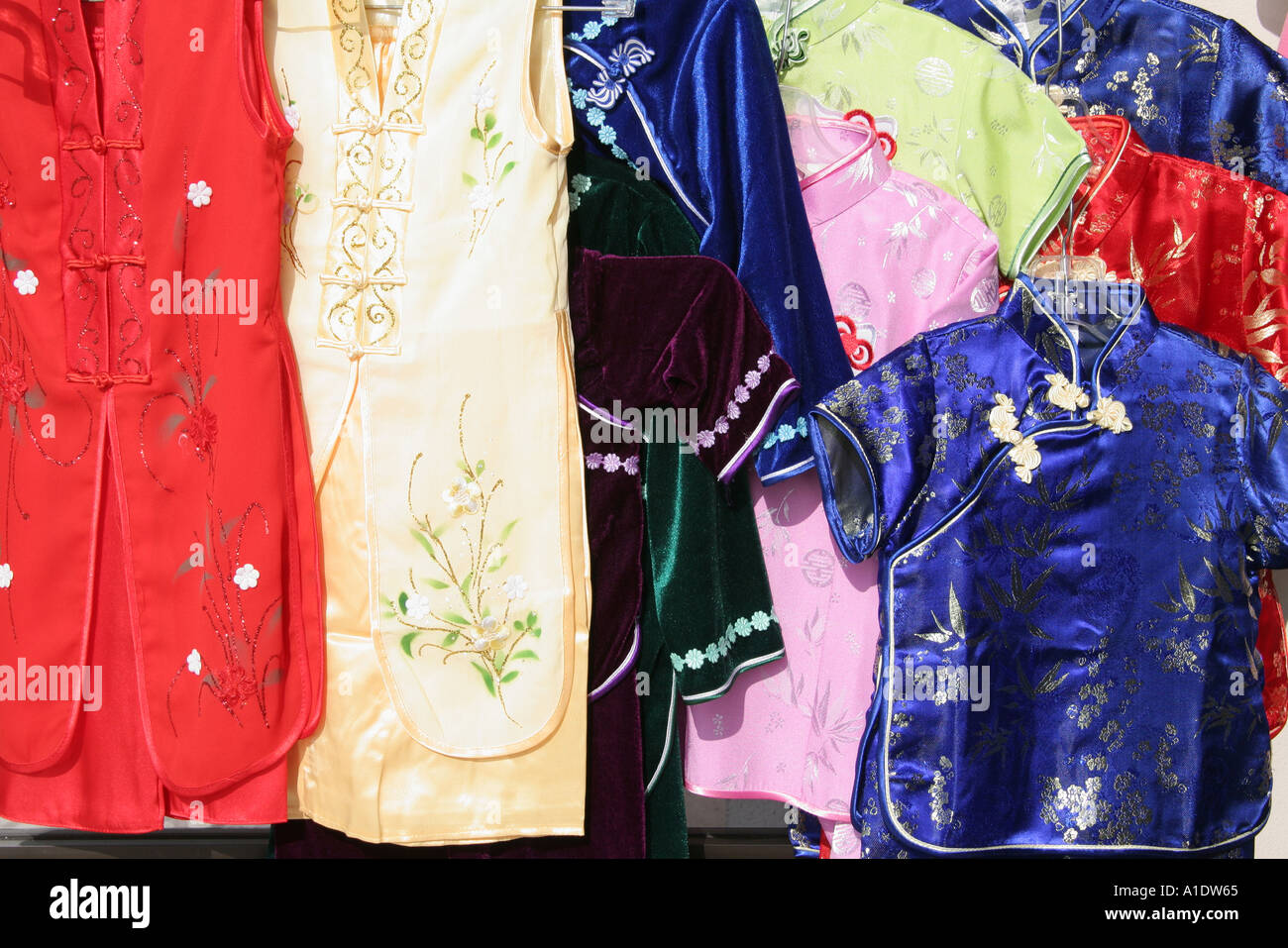 Stock Photo - California Westminster Little Saigon traditional clothing for sale