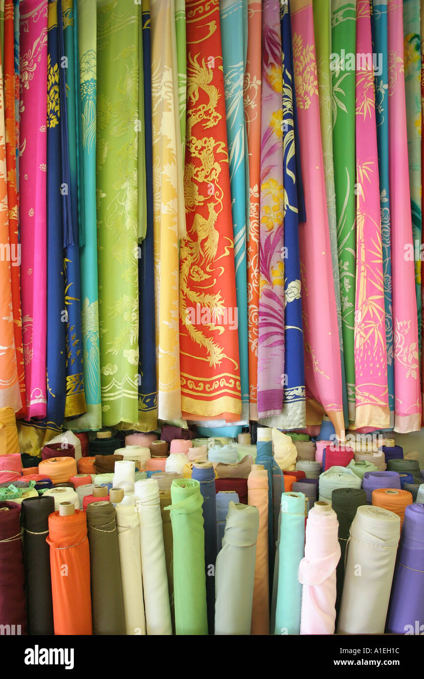 Stock Photo - California Orange County Westminster Little Saigon Bolsa Avenue Lua Dao Silk Image Fabrics