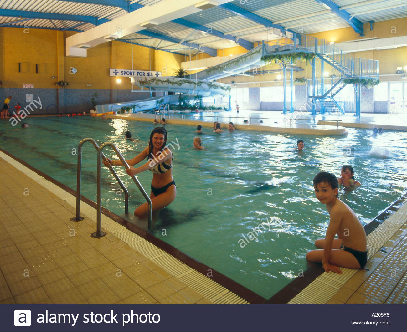 swimming pool eirias park colwyn bay conwy county borough wales stock photo royalty free