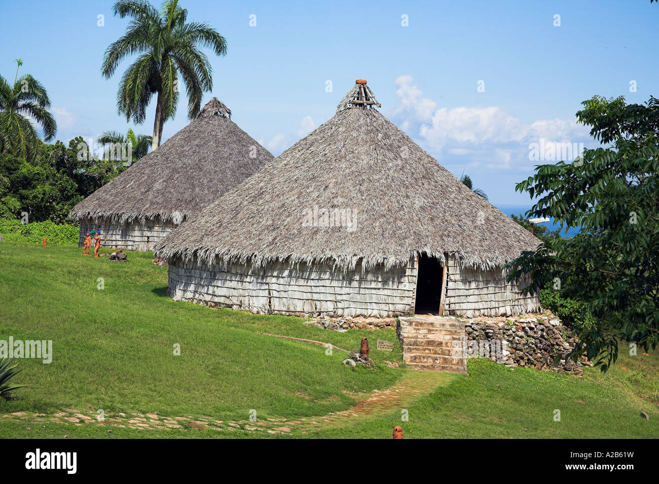 Houses in reproduction taino indian village chorro de for Reproduction homes