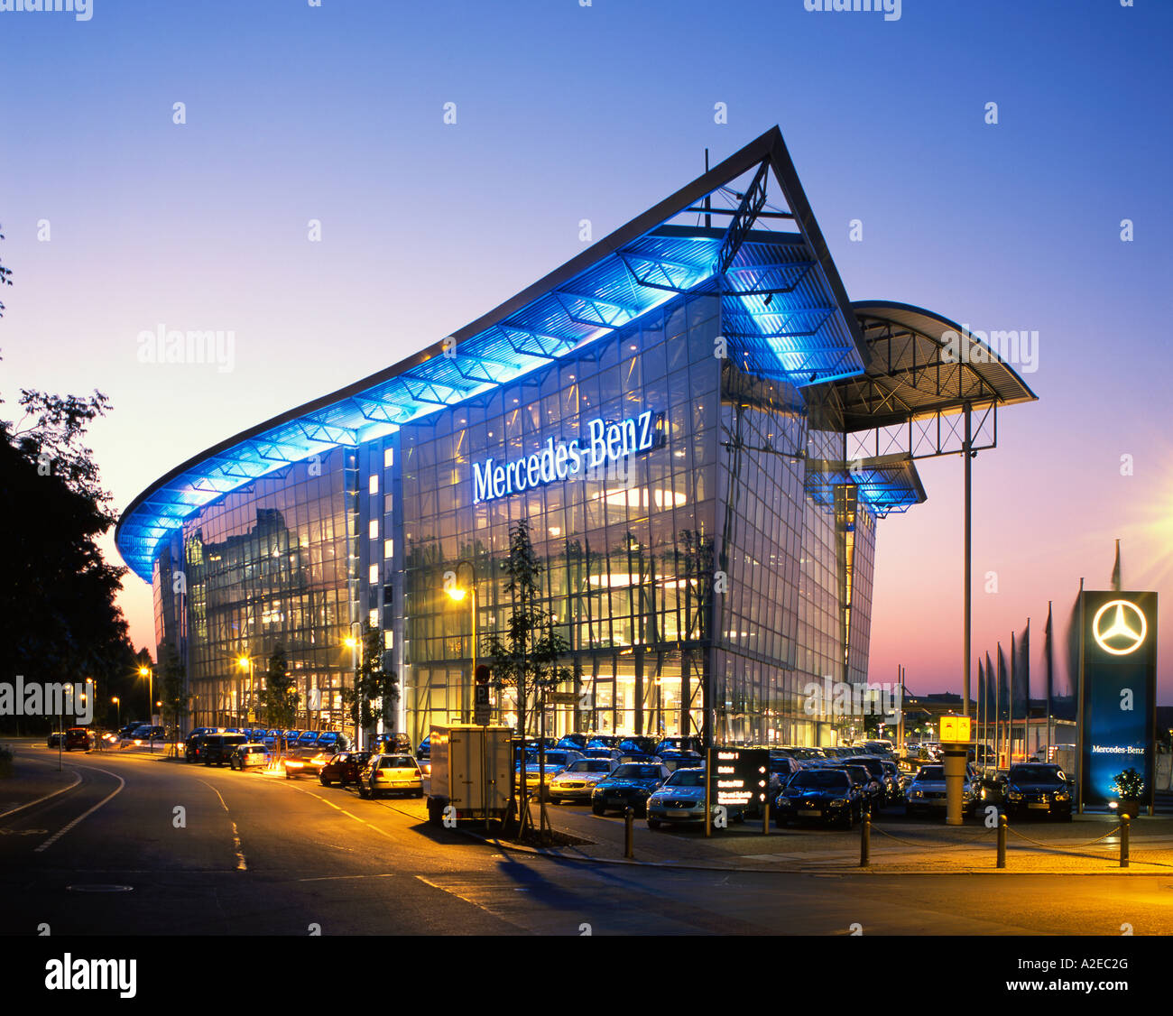 berlin mercedes world at salzufer stock photo royalty