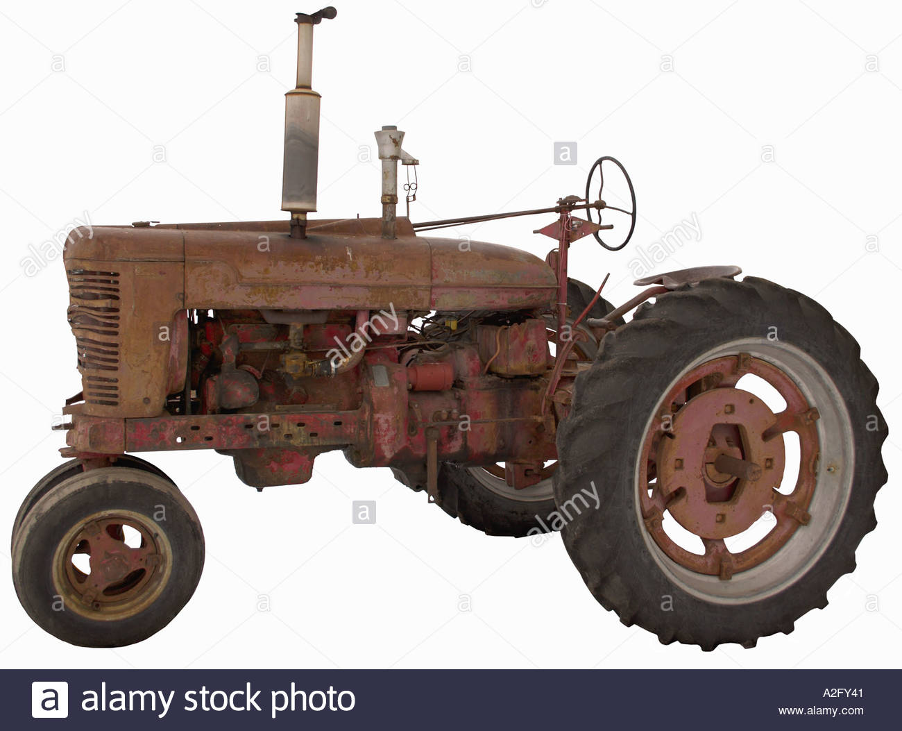 Side Picture Of Tractor : Antique tractor side view stock photo royalty free image
