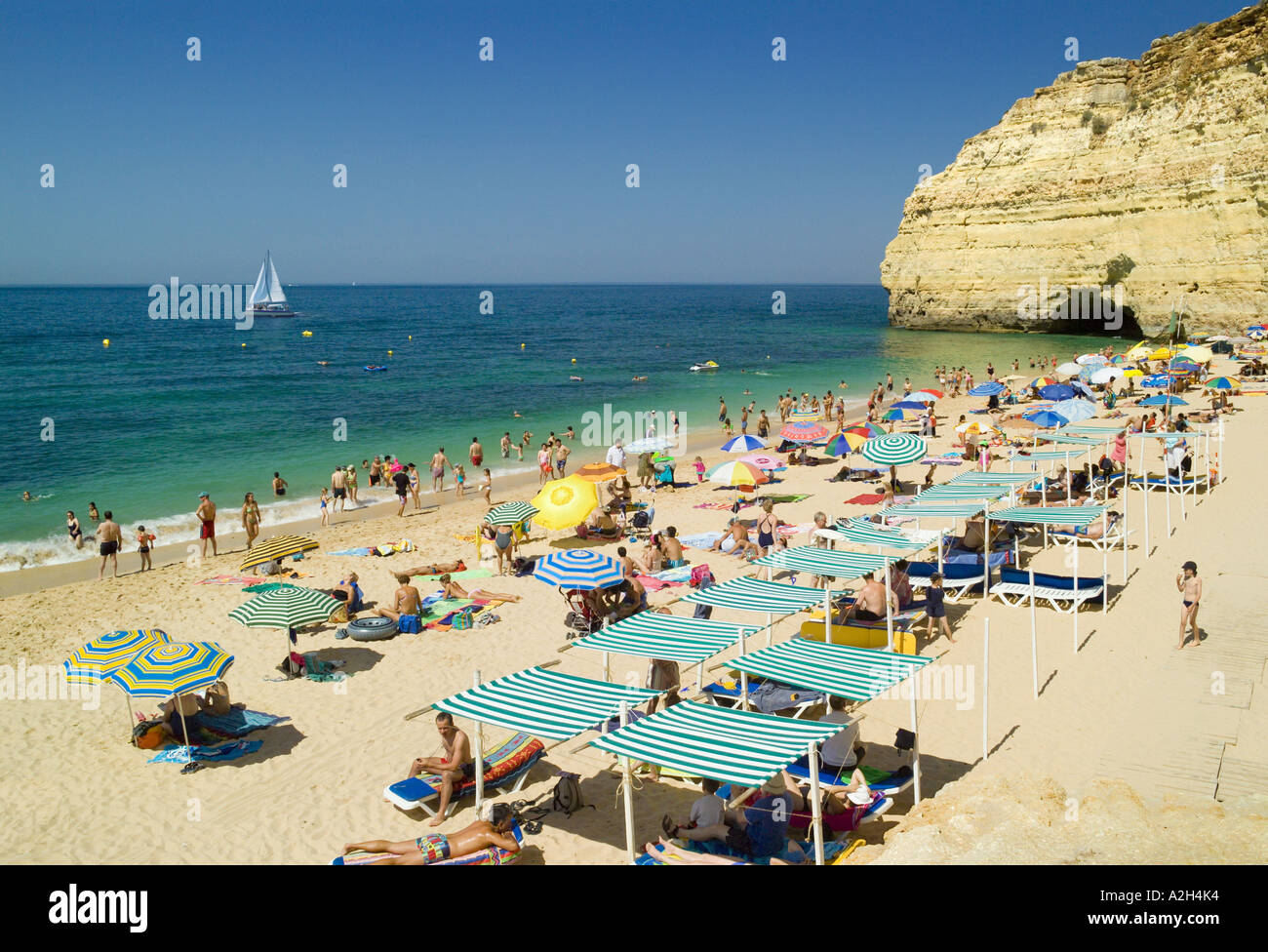 portugal the algarve centianes near carvoeiro in summer stock photo royalty free image