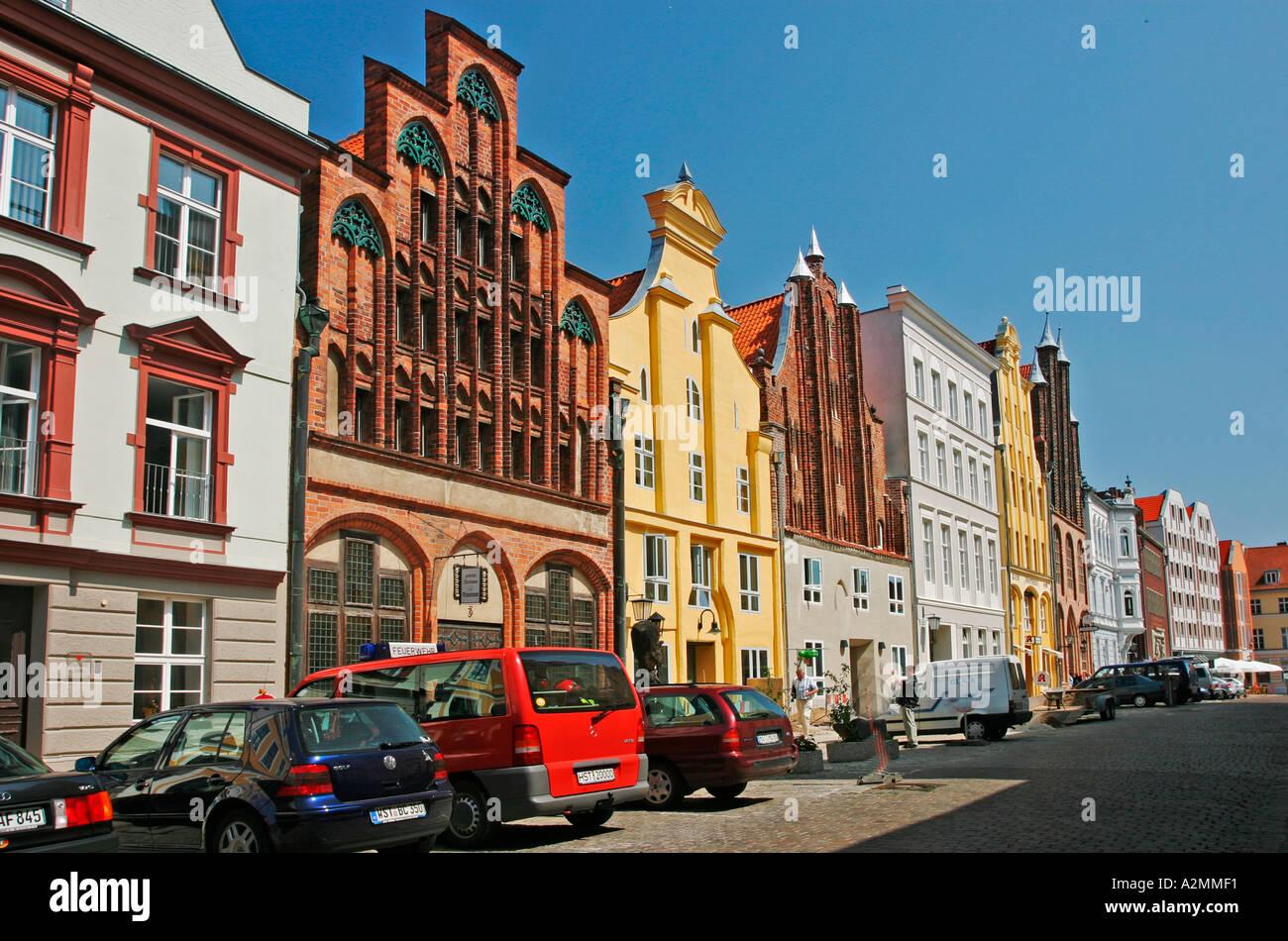 brd germany mecklenburg vorpommern city stralsund historical houses stock photo royalty free. Black Bedroom Furniture Sets. Home Design Ideas