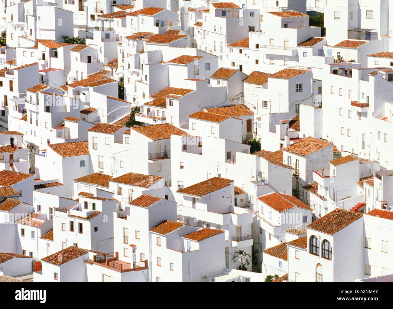 Buildings in town casares malaga province andalusia - El mundo andalucia malaga ...