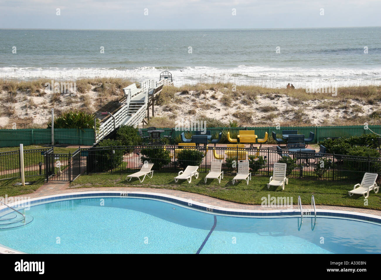 Swimming Pool And Ocean View Of The Sea Horse Oceanfront Inn Hotel Stock Photo Royalty Free