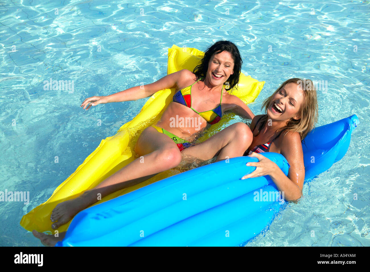 2 huehner im pool auf mallorca 10