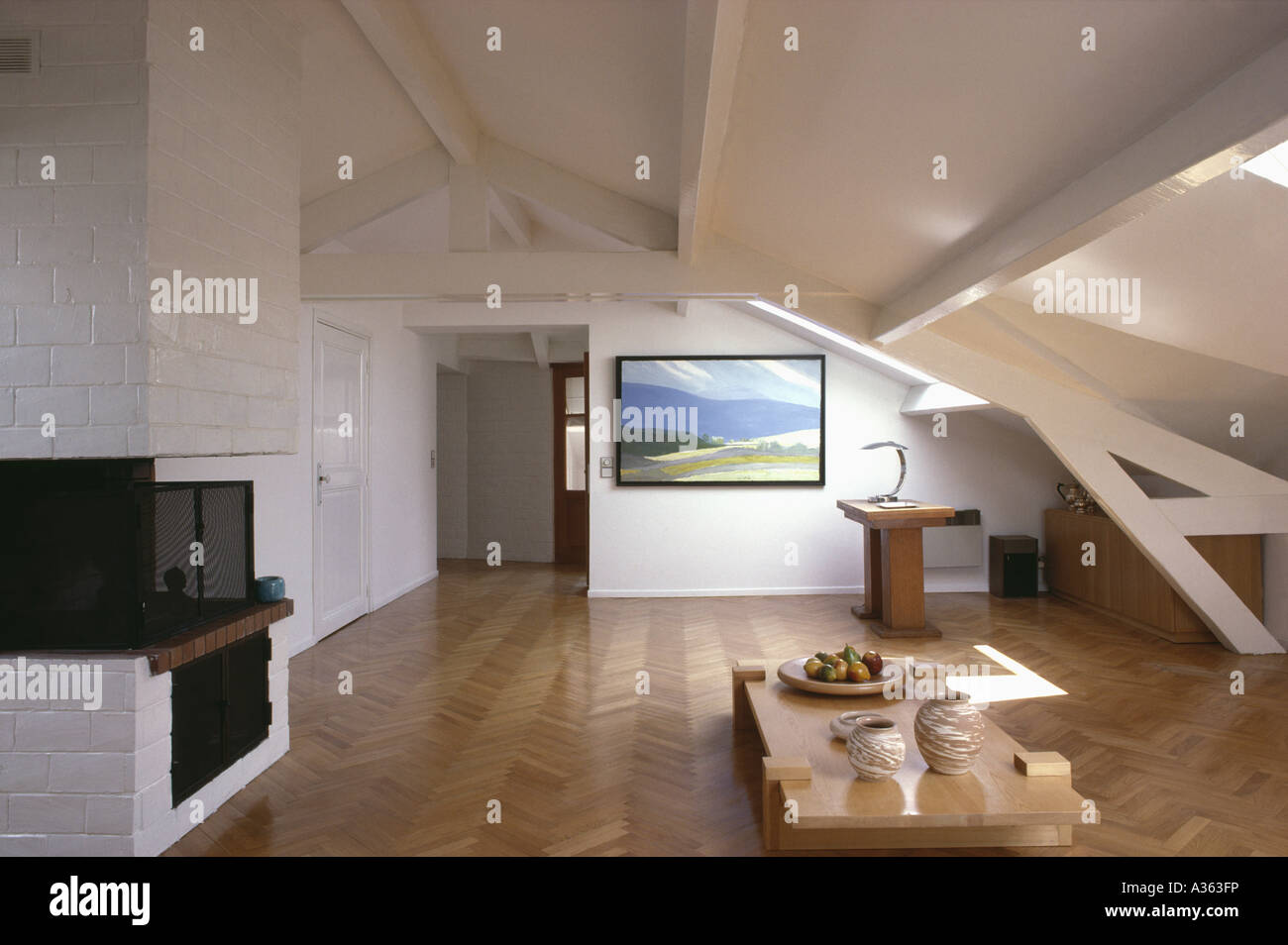 Edwardian Home Interiors Openplan Study Living Room With Wooden Parquet Floor In