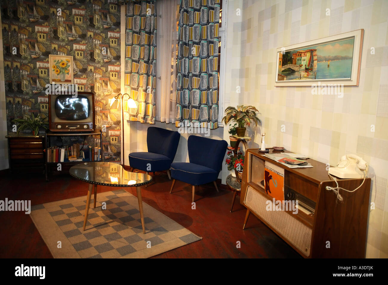 Reproduction Of A Typical West German Living Room From The