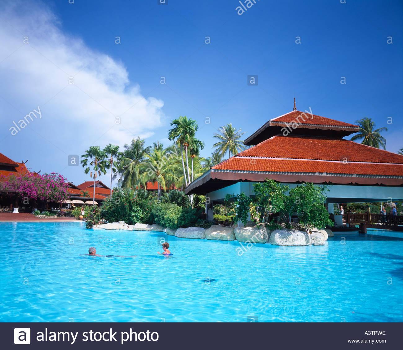 Malaysia Beach Resorts: Pelangi Beach Resort Pool Langkawi Island Malaysia Blue