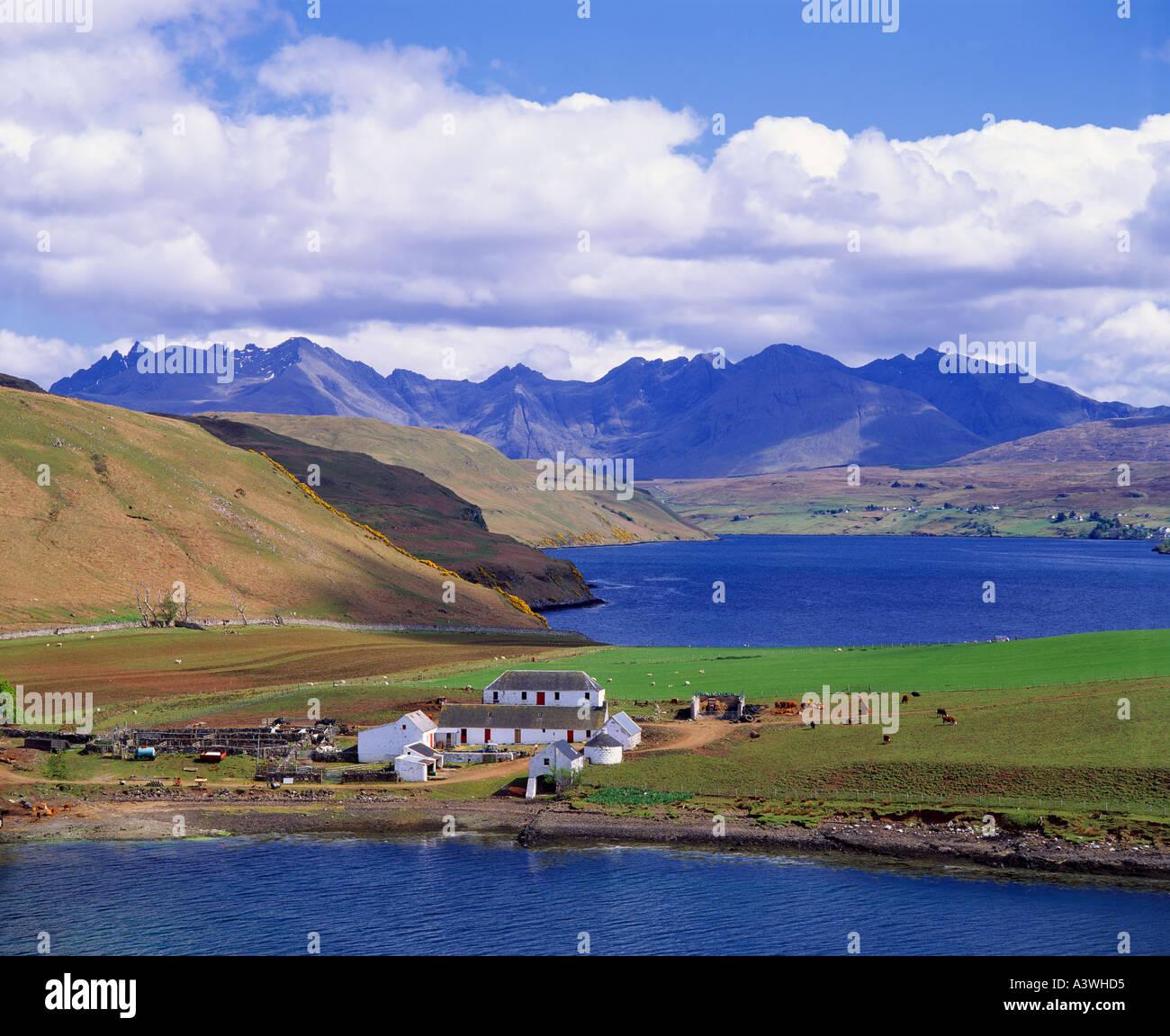 Scotland, Highland, Isle Of Skye. View Over Gesto Bay