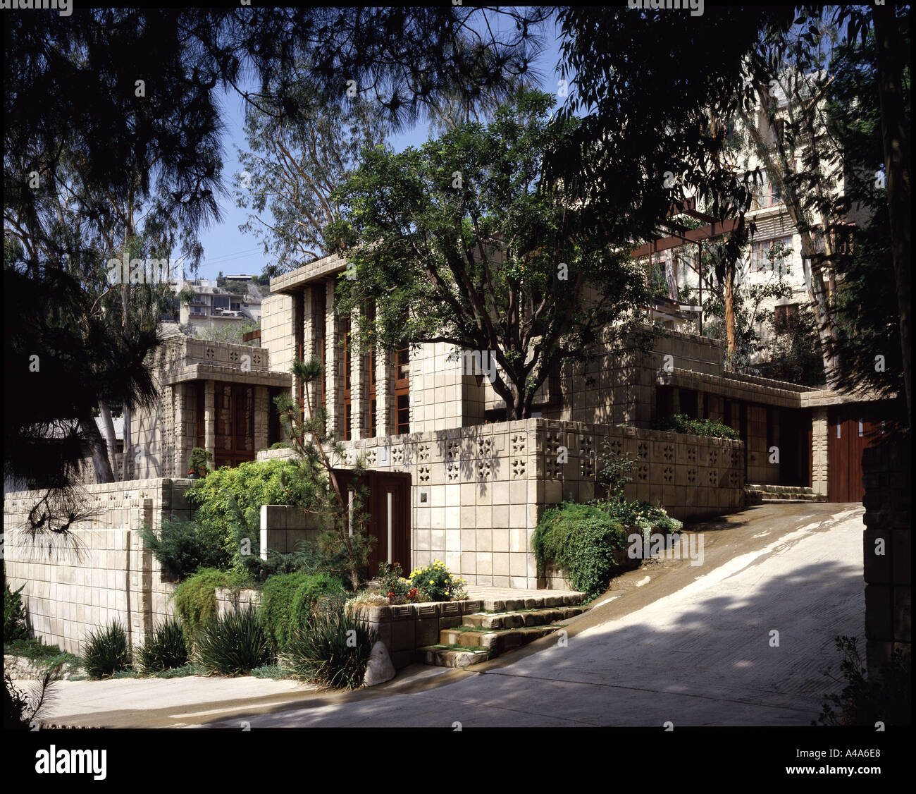 The storer house los angeles california architect frank for Frank lloyd wright houses in california