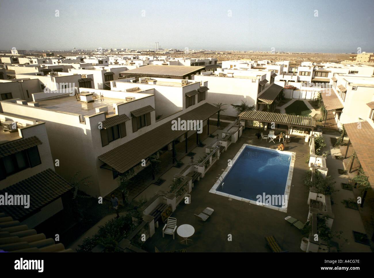 housing compound for ex pats executives saudi arabia 1980 Stock Photo