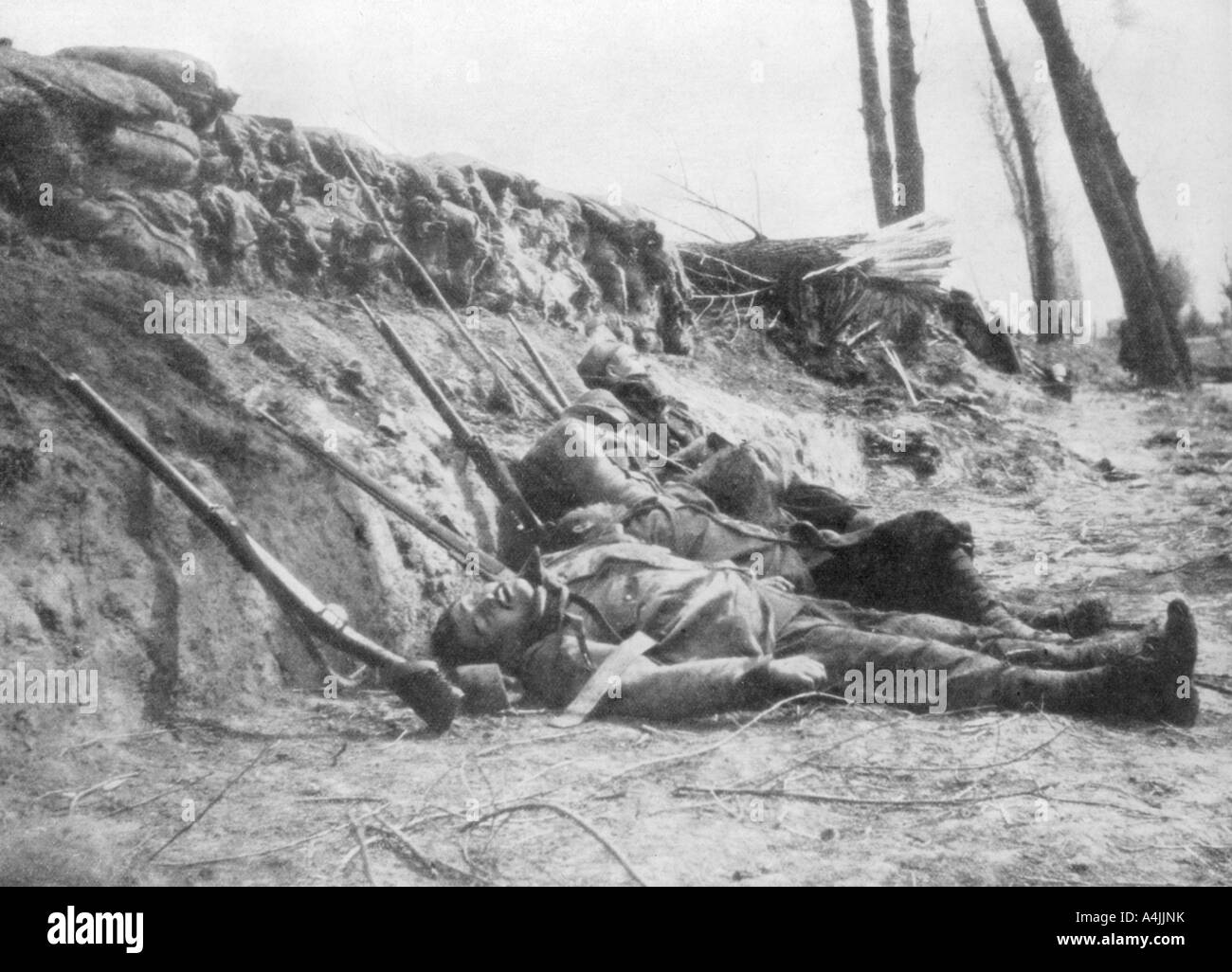 French Zouave infantry killed by gas Second Battle of Ypres Belgium 22 April 1915 1929  Stock Photo