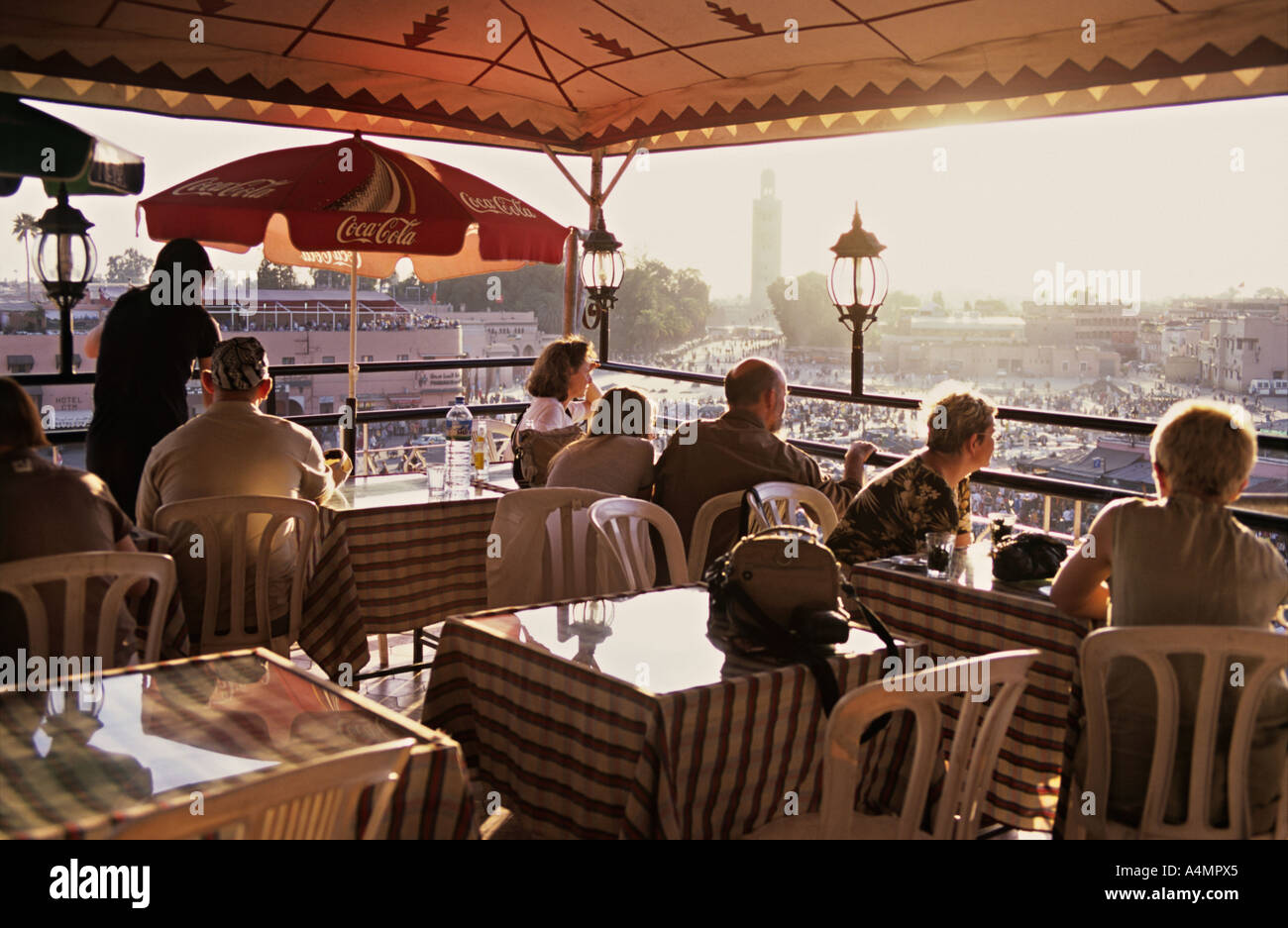 Marrakech morocco africa roof terrace cafe restaurant for 211 roof terrace cafe