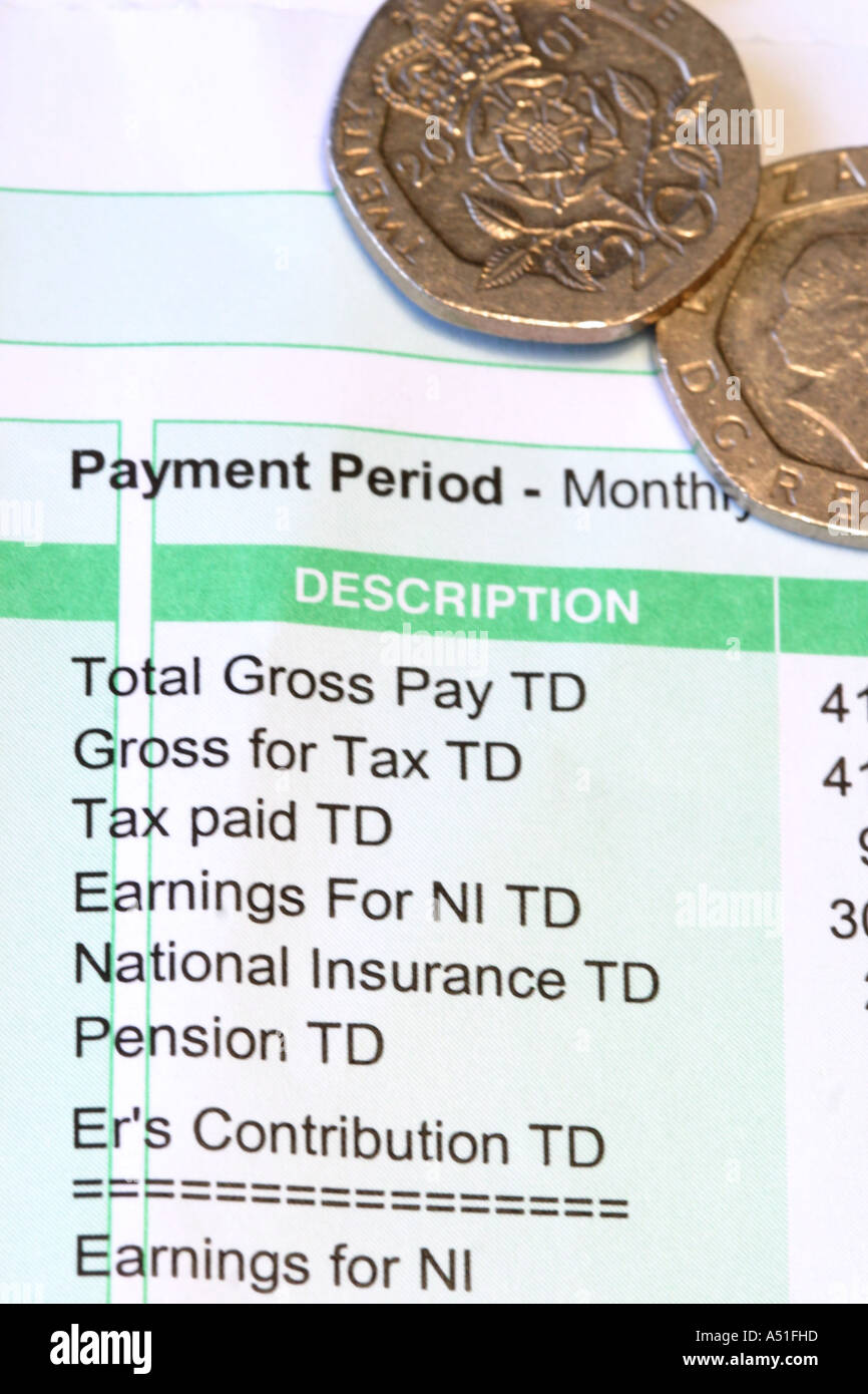 Pay Slip Wages Slip Salary Pay Packet Salaries Photo – Wages Slip
