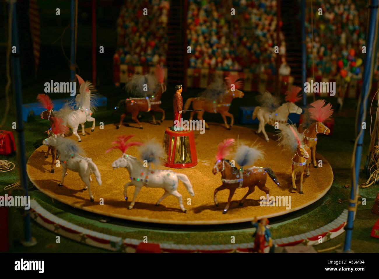 Traditional Circus Carousel Model Ringling Museum Stock