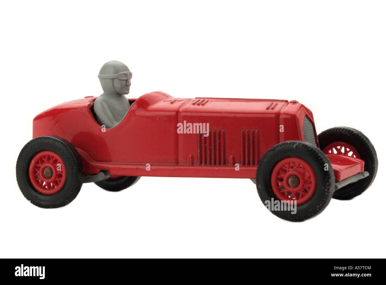 Toy Race Trucks : Red toy racing car old fashioned vehicle speed danger