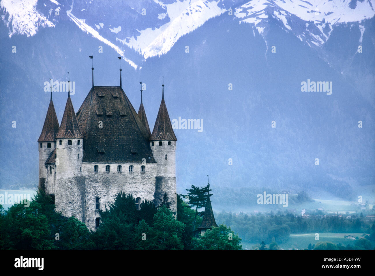Castle Thun Romantic Castle Perched On Small Hilltop