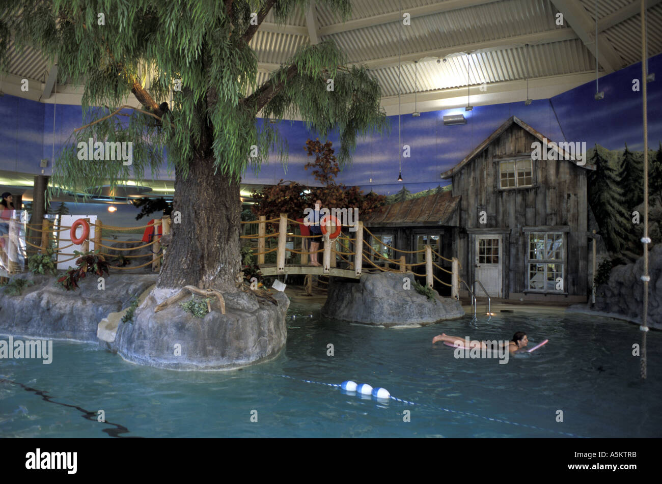 The Indoor Swimming Pool At Tremblant Ski Resort Near Montreal Quebec Stock Photo Royalty Free