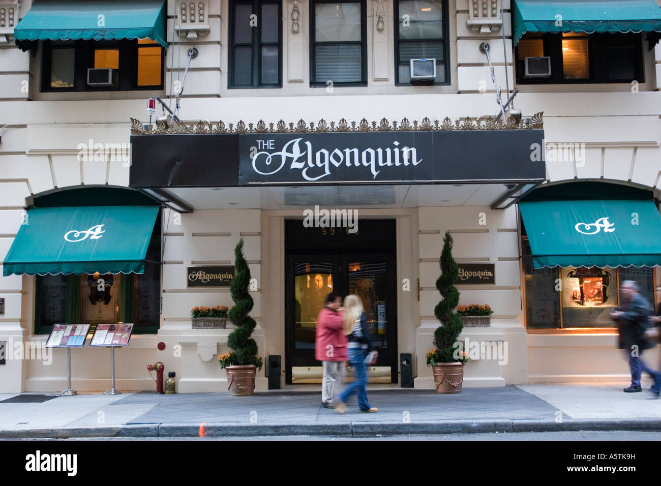The Algonquin Hotel was home to legendary Round Table midtown Manhattan New York City Stock Photo