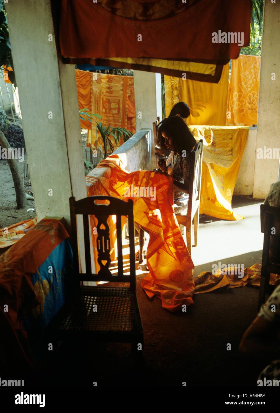 Around Hikkaduwa: Batik Factory Near Village Of Hikkaduwa Sri Lanka Stock
