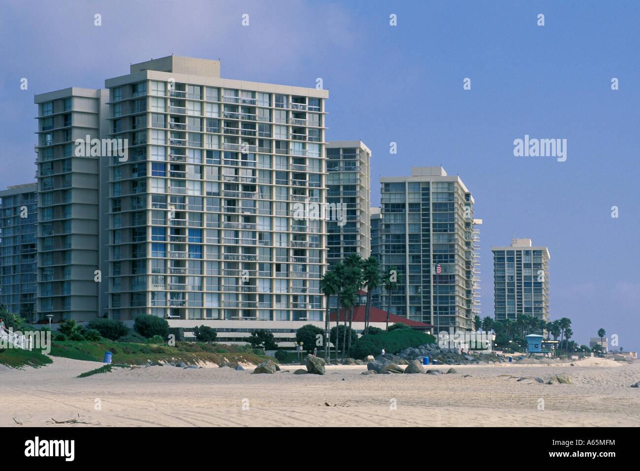 Apartment buildings along coronado beach coronado san diego county stock photo royalty free - Apartment buildings san diego ...