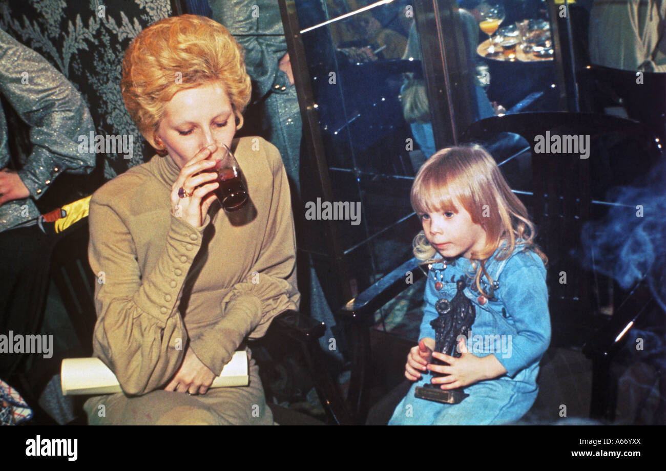 ANGIE BOWIE and son Zowie about 1974 Stock Photo, Royalty ...