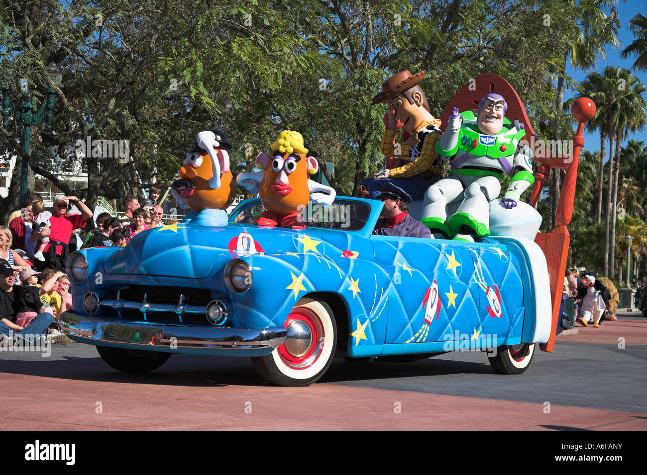 Disney Stars And Motor Cars Parade Buzz Lightyear Potato Heads And Stock Photo Royalty Free
