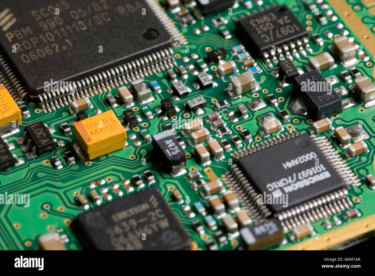 Printed Circuit Boards ~ Printed circuit board showing surface mount components