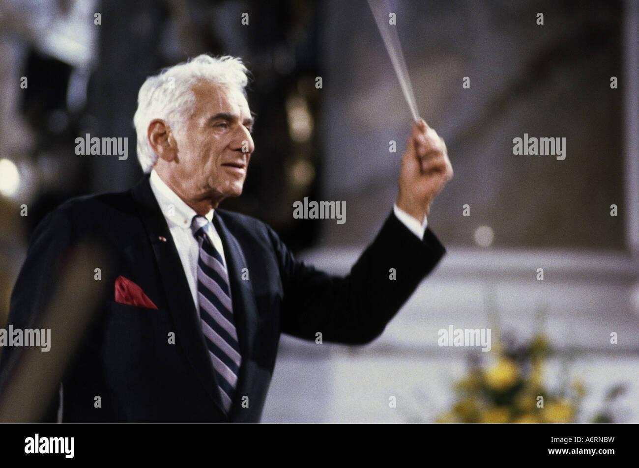 """""""Bernstein, Leonard, 25.8.1918 - 14.10.1990, American ..."""