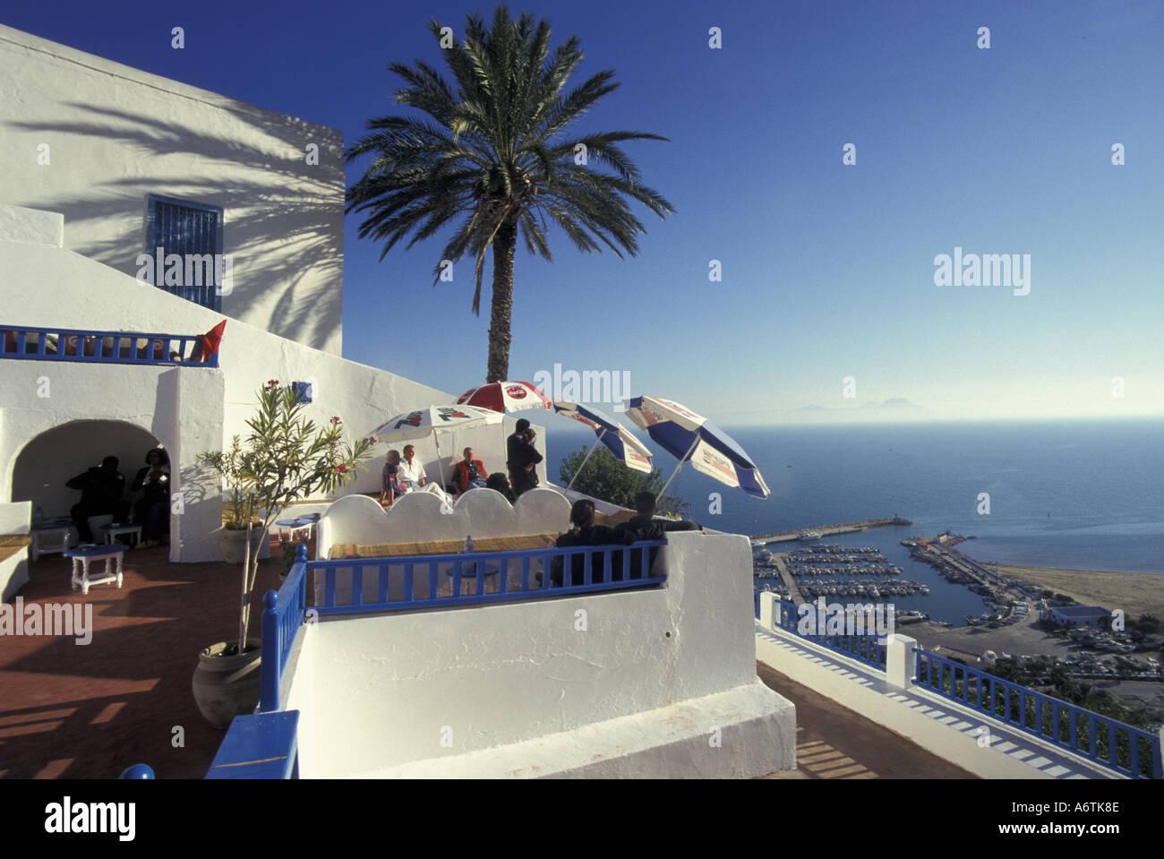 Africa tunisia sidi bou said restaurant and bar terrace for Sidi bou said restaurant